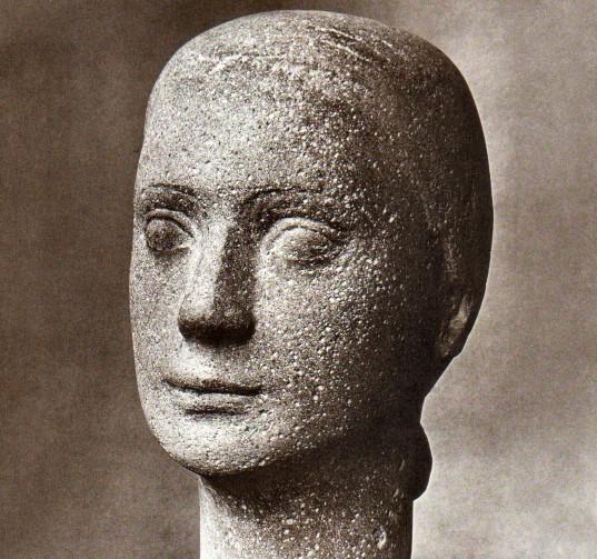 Portrait G. K., 1950, Steinguss skulpturiert, H 27 cm